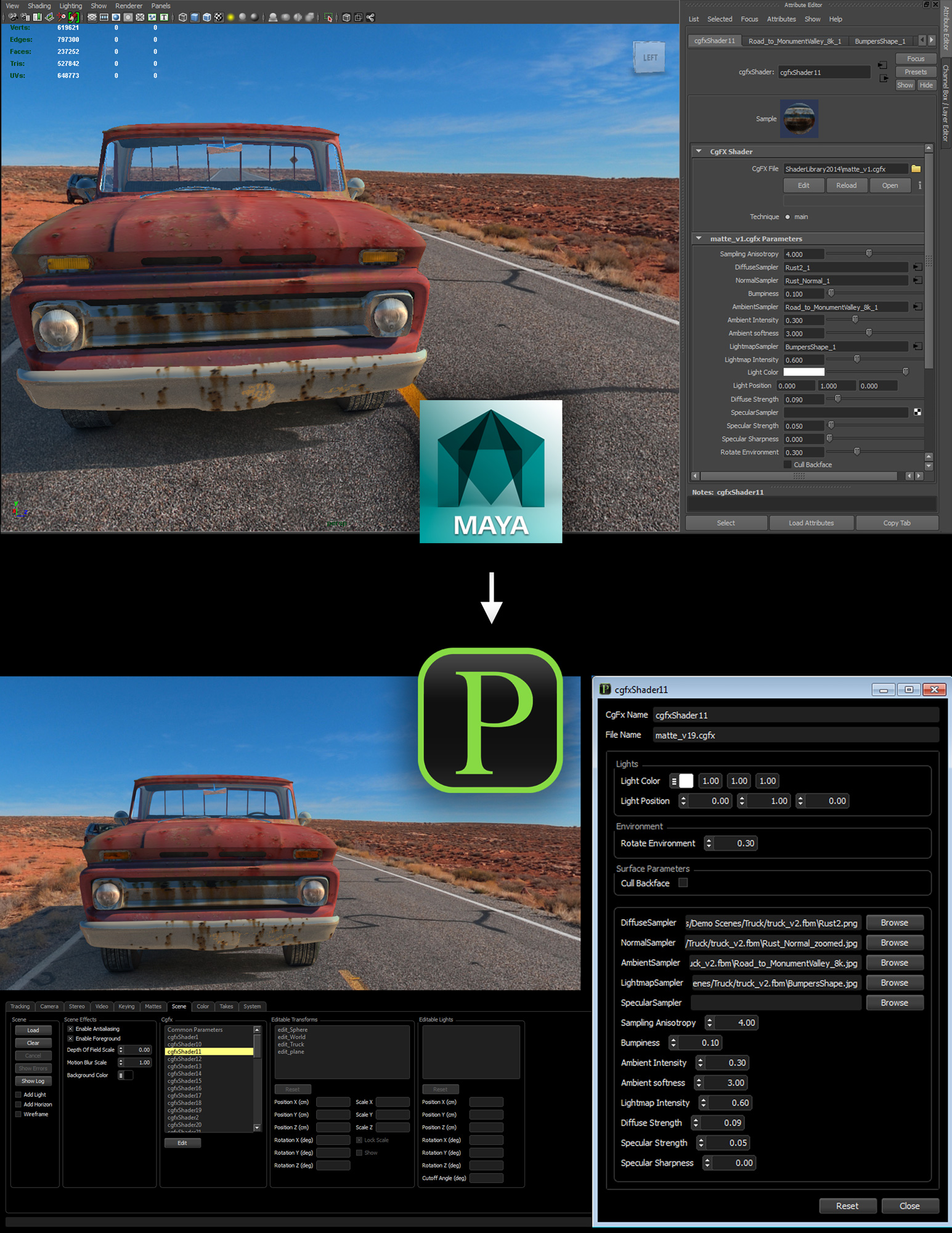 Previzion and Autodesk Maya Integration